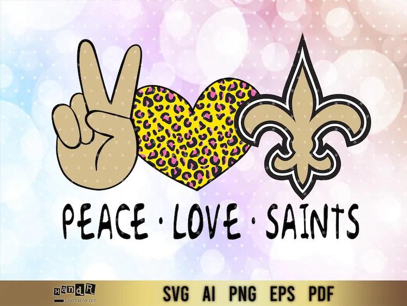 Download New Orleans Saints peace love New Orleans Saints bundle ...