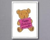 Birthday Teddy – birthday card