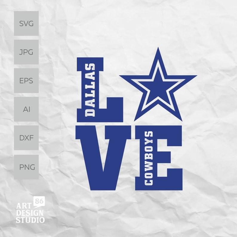 Download Dallas Cowboys svg Love Cowboys cut file Dallas cowboys | Etsy