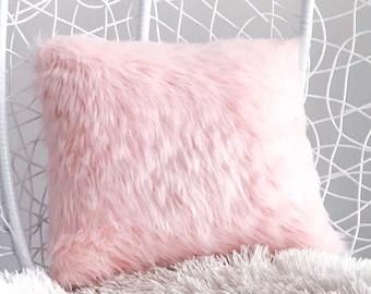 light pink fluffy pillow online