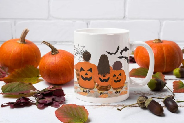 Personalized Halloween Mug Pumpkin Mug Halloween Family Mug image 0