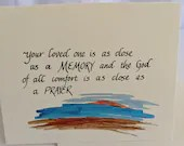 Sympathy Card|Thinking of you at this difficult time|Care and Comfort Cards|Christian Cards| Calligraphy cards|Simple Elegant Greeting cards