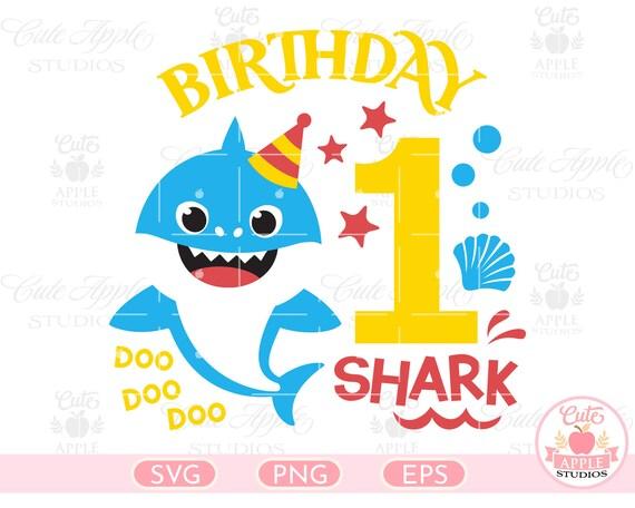 1st Birthday Shark Svg Shark Doo Doo Svg Shark Birthday Svg Etsy