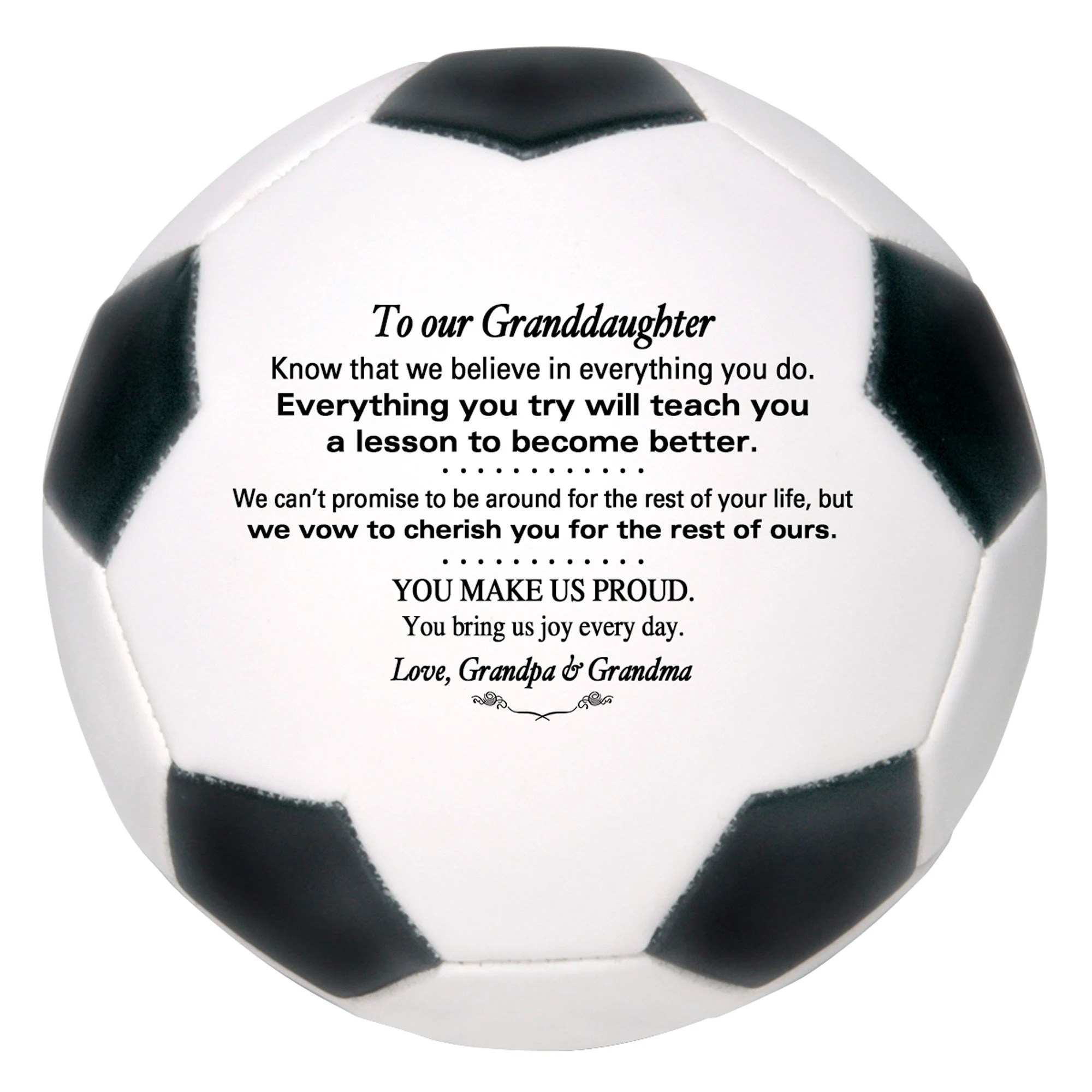Personalized Custom Soccer Ball To Our Son Grandson Daughter image 3