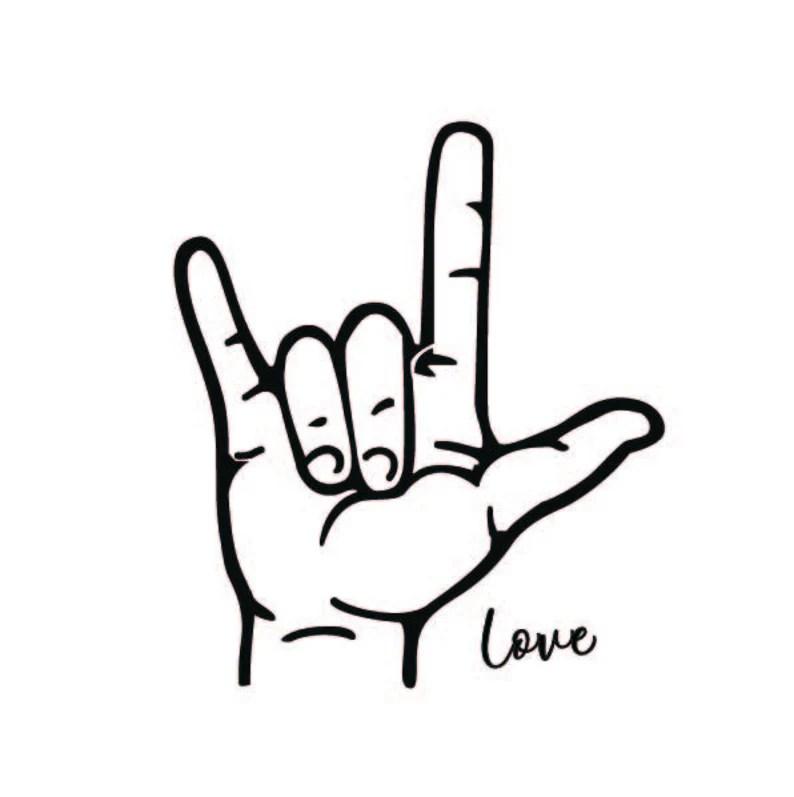 Download ASL Love Sign SVG Hand Love Svg SVG for Cricut | Etsy
