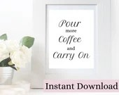Coffee Quote Printable Wall Art. Digital Gift for Coffee lovers. DIGITAL DOWNLOAD