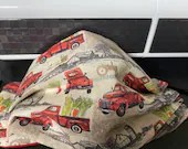 Antique Red Truck face mask