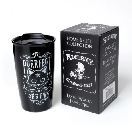Purrfect Brew Double Walled Mug 12 ozDishwasher SafeGift image 0