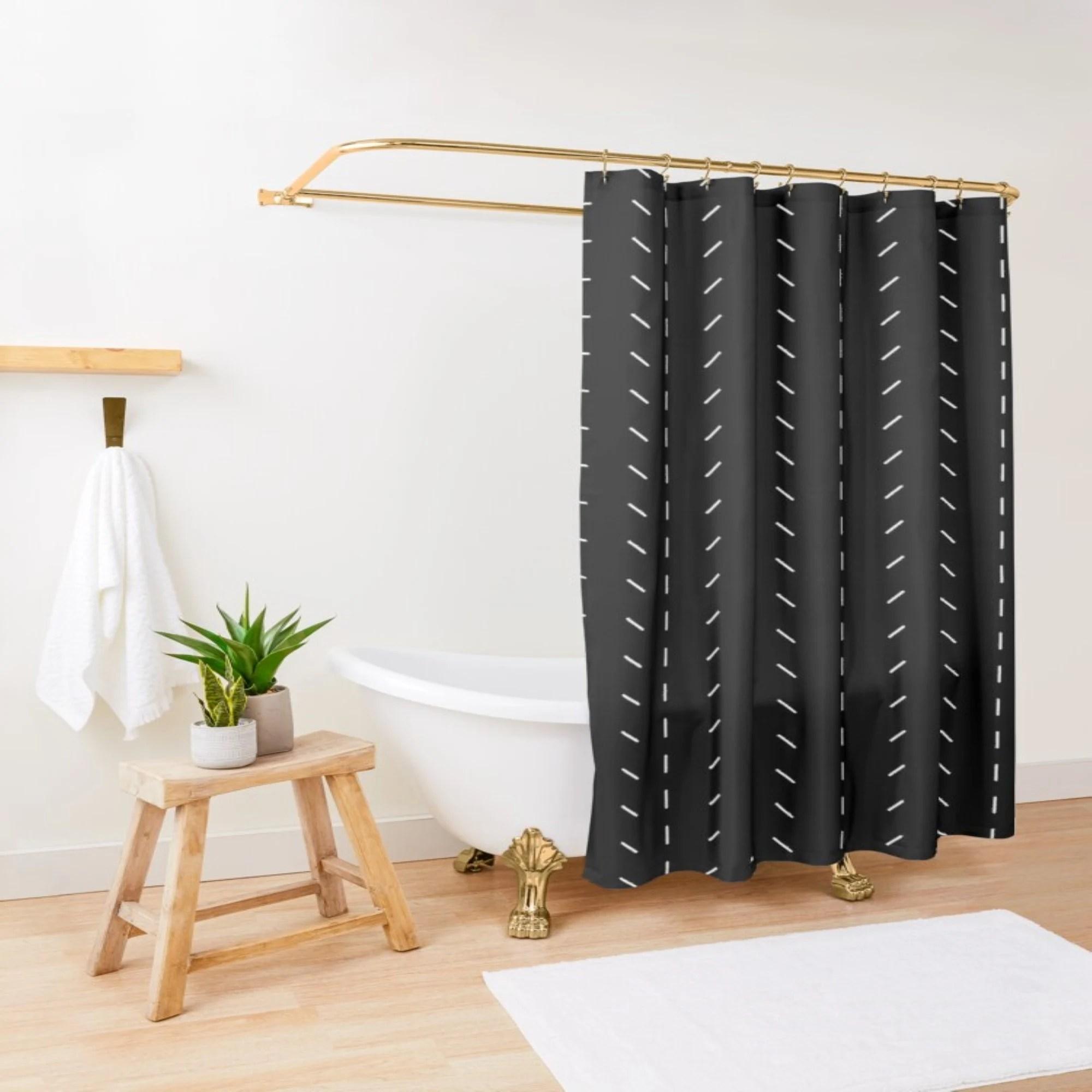 boho shower curtain etsy