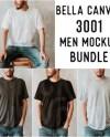 Unisex T Shirt Mockup Bella Canvas 3001 Mega Bundle All 121 Etsy