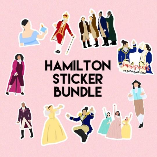 Hamilton Sticker Bundle  cadeaux de noel comédie musicale