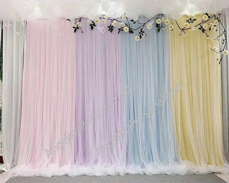 baby shower backdrop curtain etsy