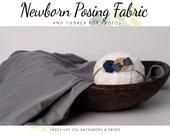 Grey Newborn Posing Fabric & Tieback Set | Grey Posing Fabric |  Newborn headband | Fabric wrap  | Newborn wrap set | tieback and wrap