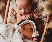 Rusty Boho Newborn Wrap, Tieback, and Rainbow Set | Rusty Newborn Wrap |  Newborn headband   | Newborn wrap set | tieback and wrap