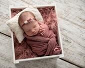 Cream Newborn pillow | Newborn pillow |Vintage Lace newborn Pillow | Newborn photo prop