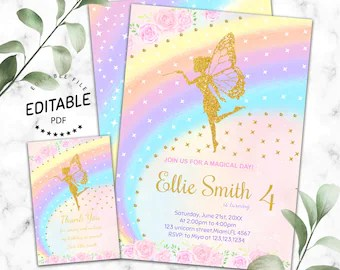 fairy invitations etsy