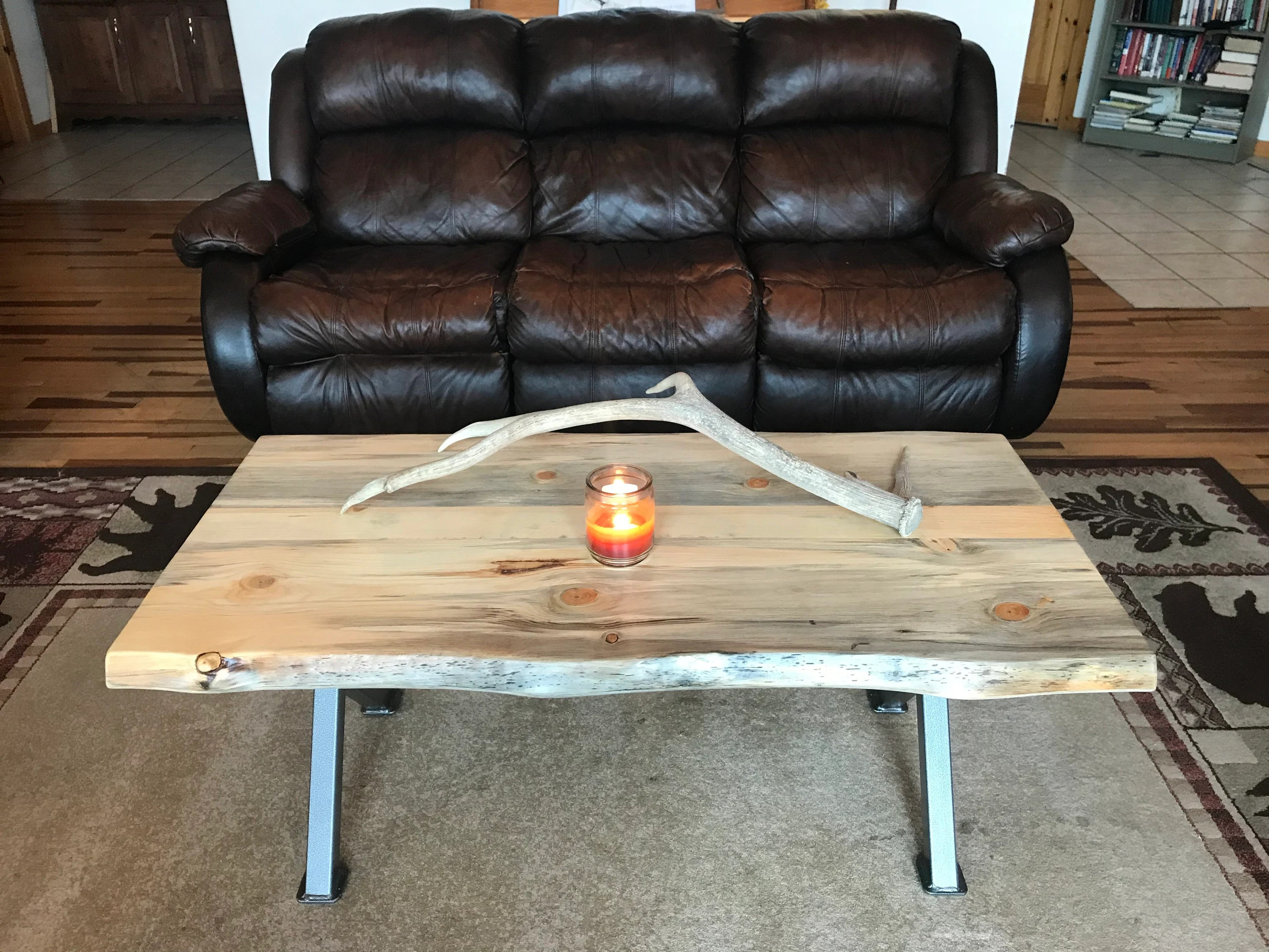 pine coffee table etsy