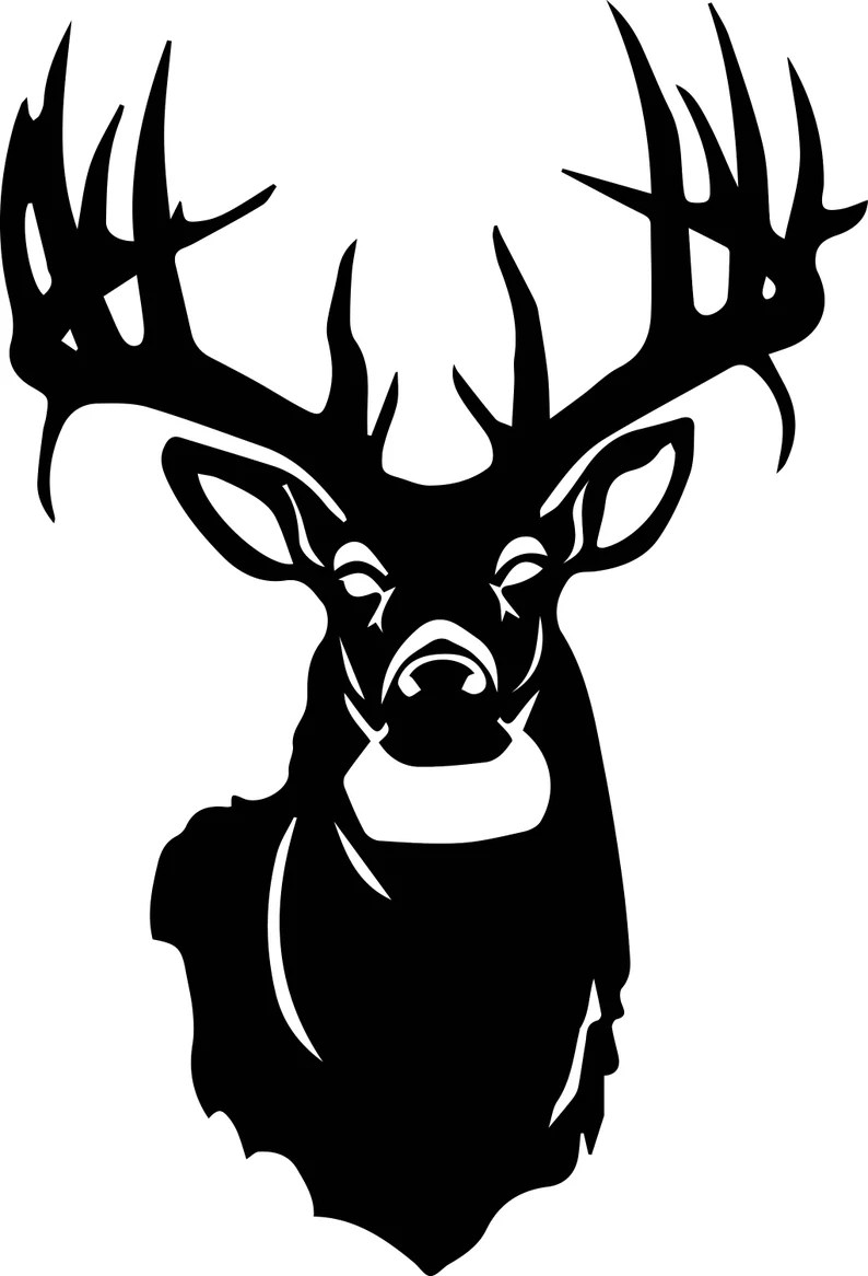 Download Deer SVG / Deer Head SVG / Deer Clipart / Deer Head ...
