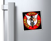 Magnets with DeafMotorbike logo