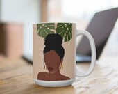 African American Woman Beauty |Feminine Woman | Coffee Mug | Hot Chocolate Mug | Tea Cup | Coffee Cup | Mugs with Sayings | Friend Gift |