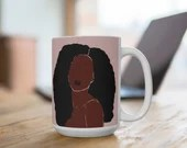African American Woman Beauty |Afro Galore | Coffee Mug | Hot Chocolate | Tea Cup | Coffee Cup | Mugs with Sayings | Friend Gift| Feminine