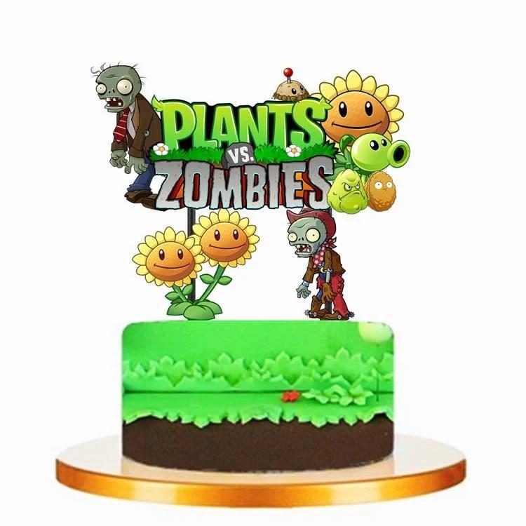 Plants Vs Zombies Cake Topper Etsy