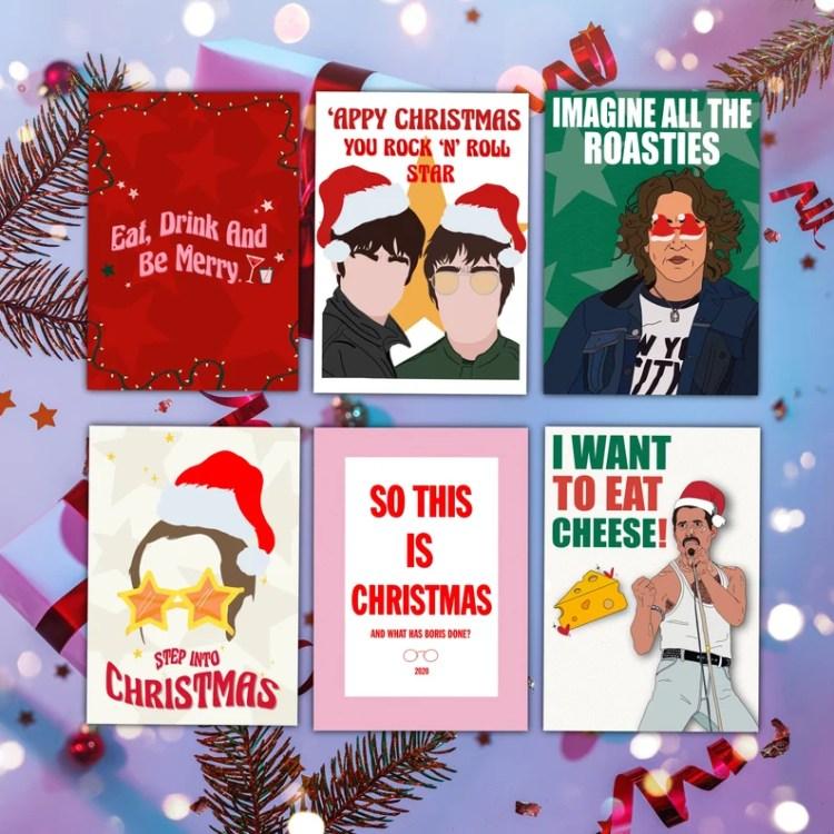 CHRISTMAS CARD BUNDLE Music Modern Greetings Cards Multipack image 1