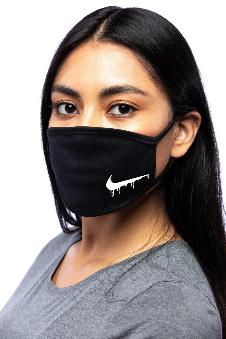 Nike Inspired Drip small Logo  100% Cotton Double Layer image 1