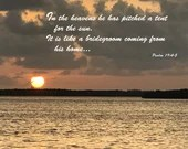 Digital Download - Sunset with Scripture Series (P2T2) - Psalm 19:4-5