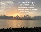 Digital Download - Sunset with Scripture Series (P1T4) - Psalm 50:1