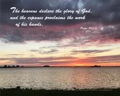 Digital Download - Sunset with Scripture Series (P6T1) - Psalm 19:1