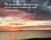 Digital Download - Sunset with Scripture Series (P7T1) - Psalm 19:1