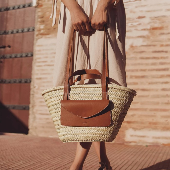 Straw Basket Bag Morocco Straw Basket Beach Basket Bag image 0
