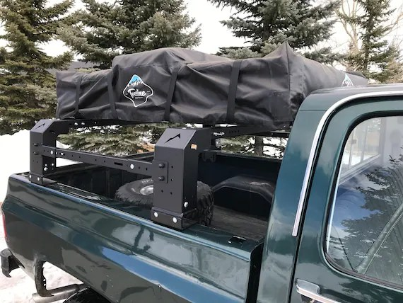 adjustable bed rack bed cage for roof top tent truck mounted etsy