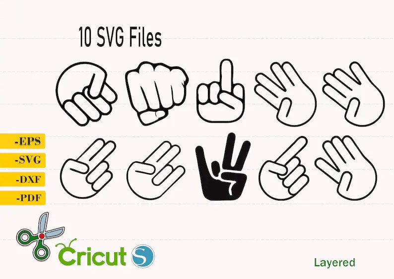 Download Shocker Style Svg Shocker finger cut file Middle Finger | Etsy