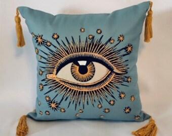 evil eye pillow etsy