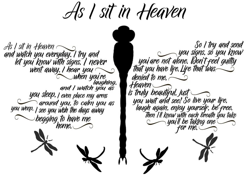Download As I Sit in Heaven Firefly SVG / Loved One in Heaven ...