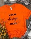 Mock Up Bella Canvas 3001 100 Cotton Orange T Shirt Fall Etsy