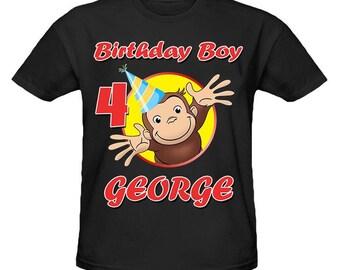 Curious George Birthday Shirt Etsy