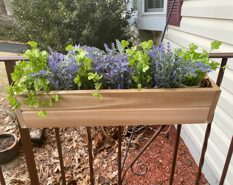 railing planter etsy
