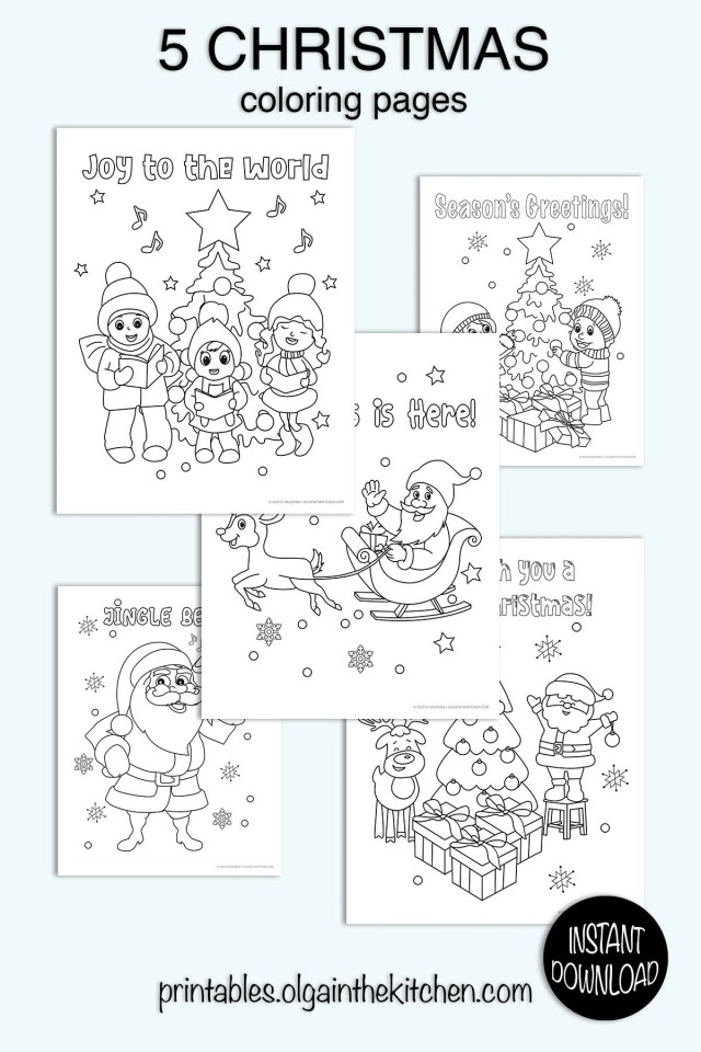 Christmas Coloring Pages, Printable Coloring Pages, Christmas Party  Activity, School Christmas Coloring Pages, Kids Coloring Pages PDF20.20x20