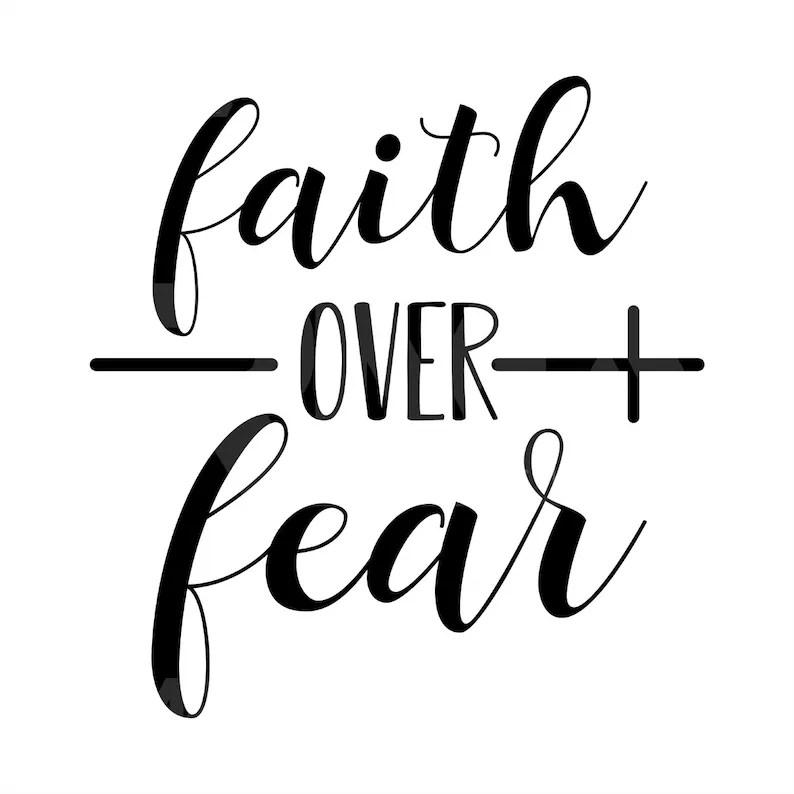 Download Faith over Fear SVG Faith Heart Svg Jesus SVG Religious   Etsy