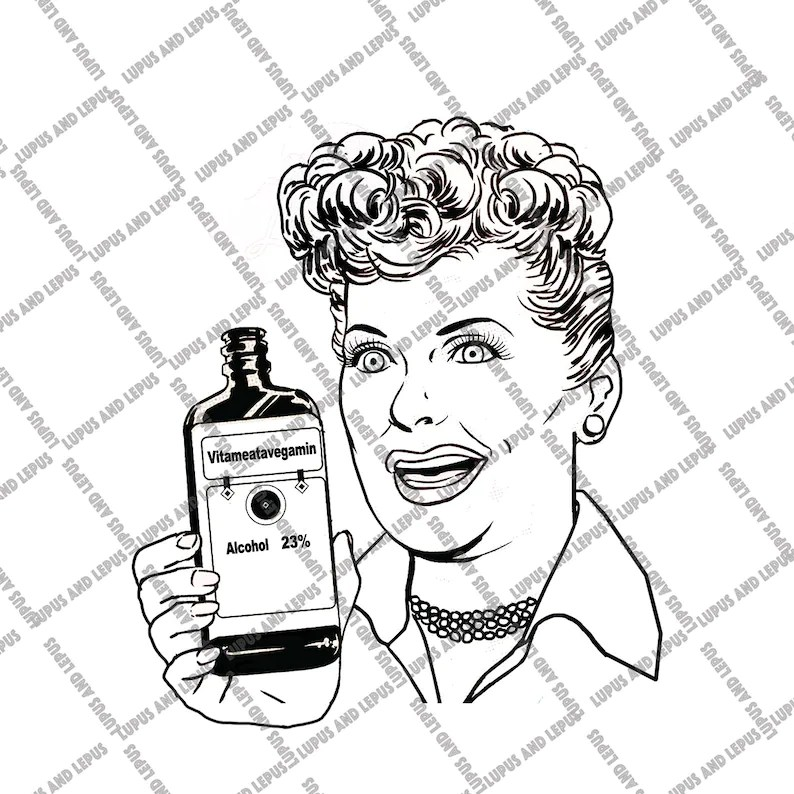 Download Digital File VITAMEATAVEGAMIN Lucy svg lucille ball I | Etsy