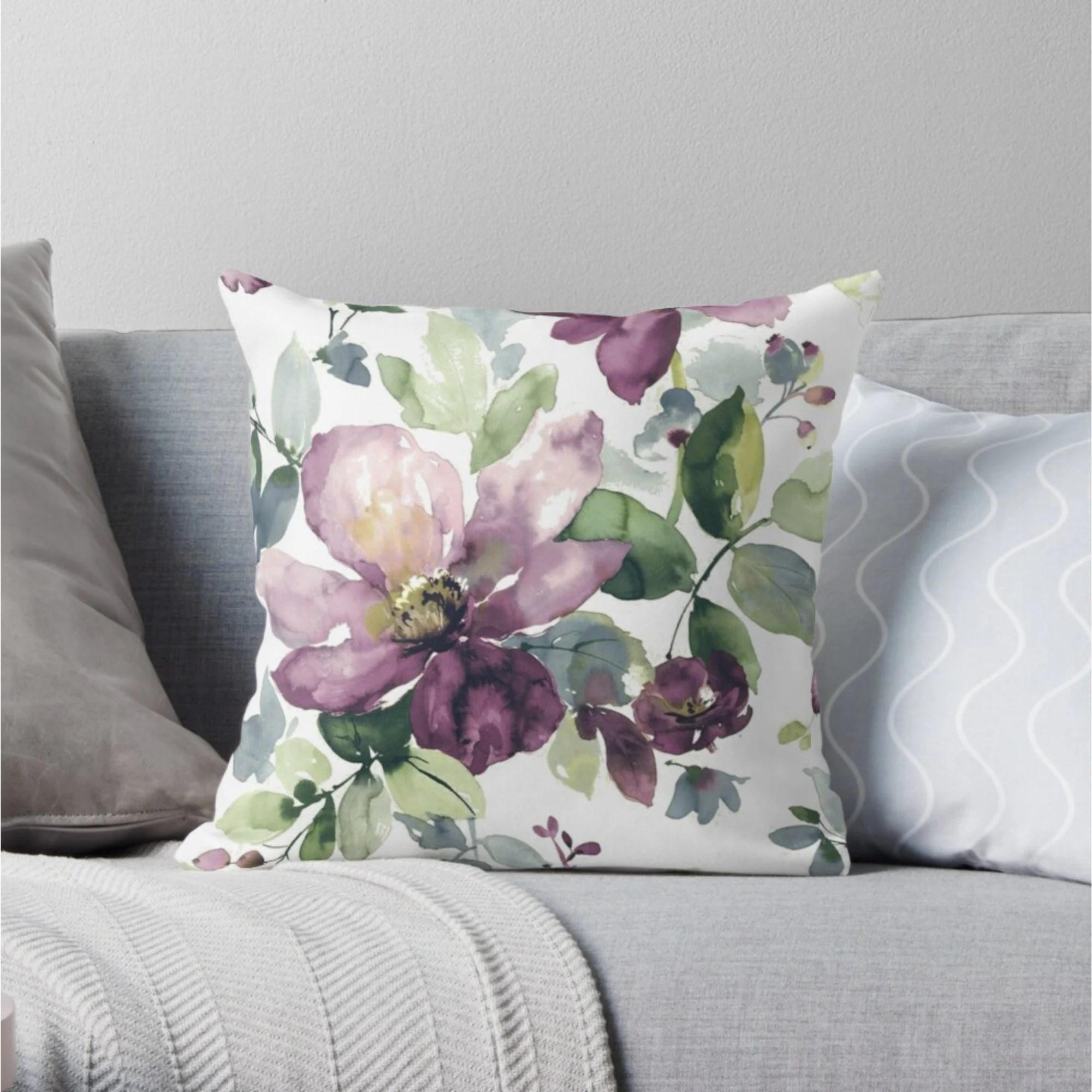 purple cushion etsy