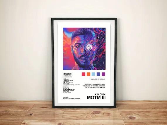 kind cudi mann auf dem mond iii album cover poster poster druck wandkunst benutzerdefinierte poster home decor