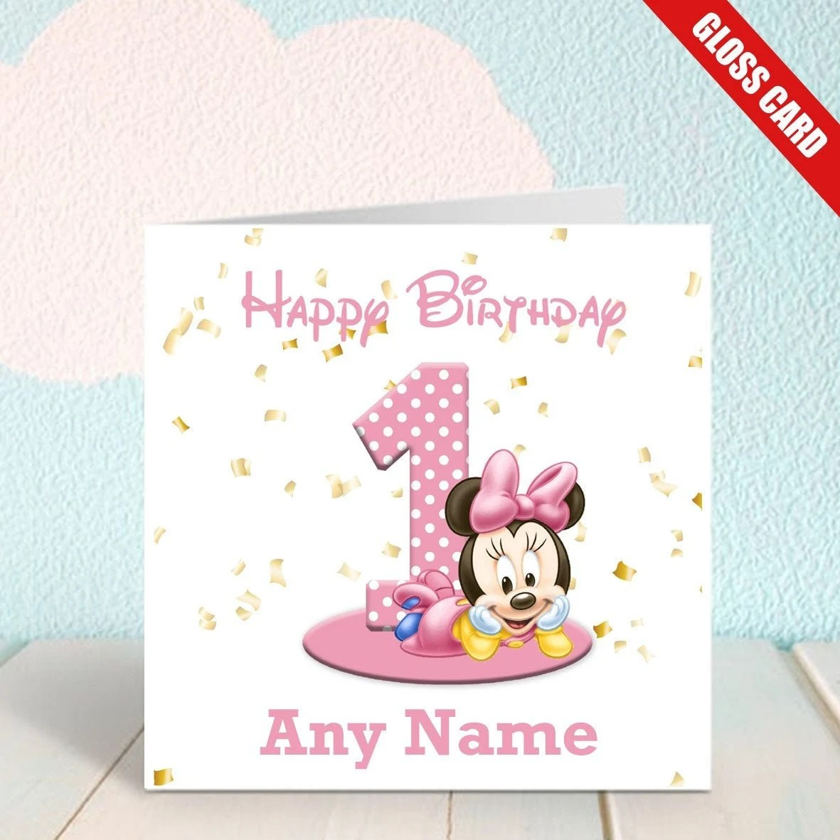 Minnie Mouse Cards Etsy