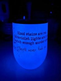 Glow in the dark wine tumbler