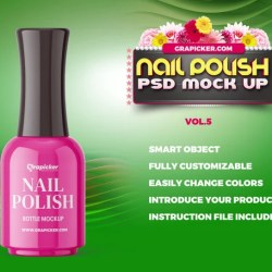 Nail Polish Bottle Mockup Beauty Hair Saloon Manicure Etsy