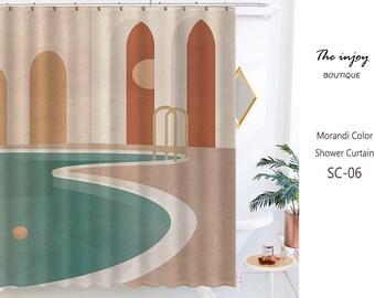 art shower curtain etsy