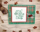 Angel Wings Christmas Card